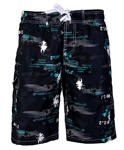 APTRO Men's Quick Dry Board Short Printed Palm Beach Swim Wear #1526 Blue XL