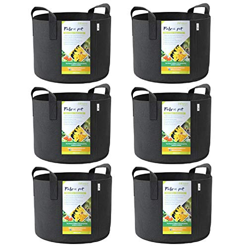 WINNER OUTFITTERS 6-Pack 7 Gallon Grow Bags/Aeration Fabric Pots with Handles by WINNER OUTFITTERS
