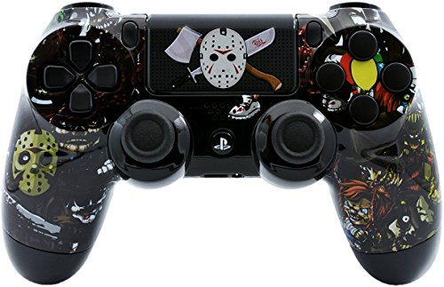 Scary Party Custom PS4 PRO Rapid Fire Custom Modded Controller 40 Mods for All Major Shooter Games -