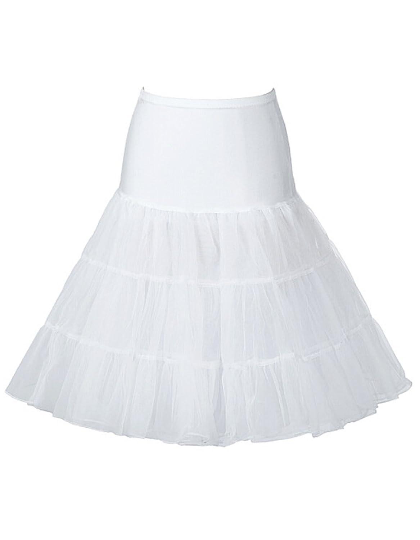 Damen Kleid 50er Jahre Kleid Vintage Retro Reifrock Petticoat Unterrock für Wedding bridal Petticoat Rockabilly Kleid von OOFIT