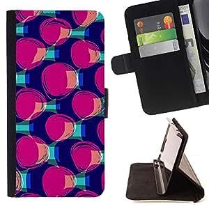 """Trullo púrpura patrón de la moda"""" - Modelo colorido cuero de la carpeta del tirón del caso cubierta piel Holster Funda protecció Para Samsung Galaxy A5 ( A5000 ) 2014 Version"""
