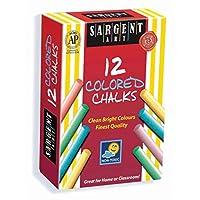 Sargent Art 66-2010 Tiza sin polvo de 12 cuentas de colores