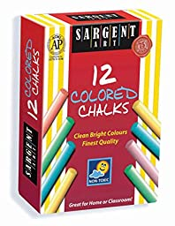 Sargent Art 66-2010 12-Count Colored Dustless Chalk
