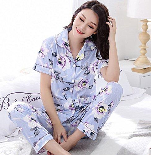 Syksdy Verano Estilo Floral Pijama Mujer Plus Size Pijamas ...