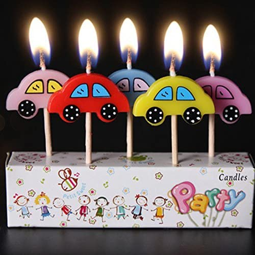 Amazon Com Birthday Candles Kids Child Boys Girls Cute Cartoon Animals Novel Candles Cake Cupcake Candles Car Kitchen Dining