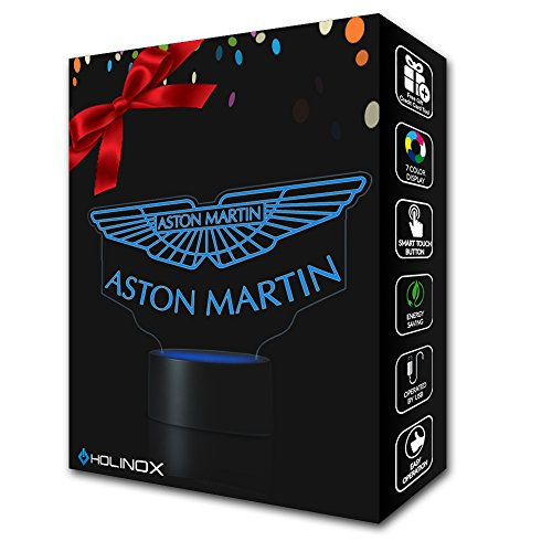 ASTON MARTIN Lighting Decor Gadget Lamp Awesome Gift + FREE 2 BONUSES, Sticker Decor + MULTI PURPOSE CREDIT CARD = Best Set (MT118) By Holinox