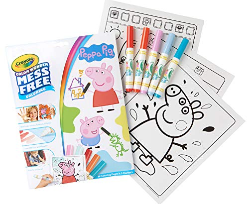 Crayola Color Wonder Peppa Pig Coloring Pages, Mess Free Coloring, Gift for Kids (Wrapping Dora Christmas Paper)