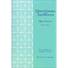 Questions & Answers: Open Forum