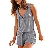 Funic Clearance Summer Women Bandage Jumpsuits Vest Tank Top Casual Playsuit Short Pants