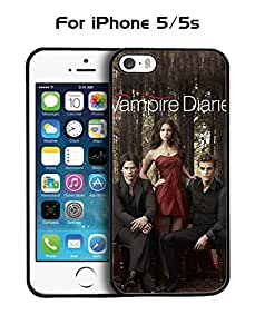 The Vampire Diaries TV Series Apple Iphone 5 Funda Case {Anti Dust} +{High Impact} Cover Slim Drop Resistant Personalized Back for Iphone 5 & 5s