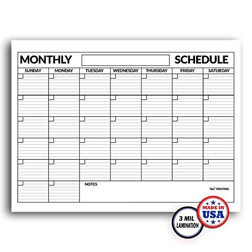 High Quality 3 Mil Laminated Jumbo Wall Calendar 3 Ft X 4