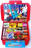 American Miniatures Candy Gift Box Hamper | A Great Chance To Try Lots Of American Classics | Letterbox Friendly | Glossy Red Hamper Box | Hershey's | 26 Items | Mini Hamper exclusive to CANDYPLANET
