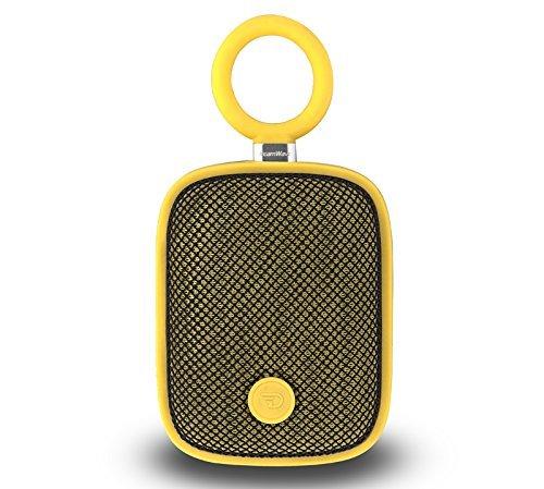 (Splash Proof Portable Bluetooth 4.0 Speaker System with IPX5 Dreamwave Bubblepod Sunshine Yellow- Bonus Dreamwave Bag Included)