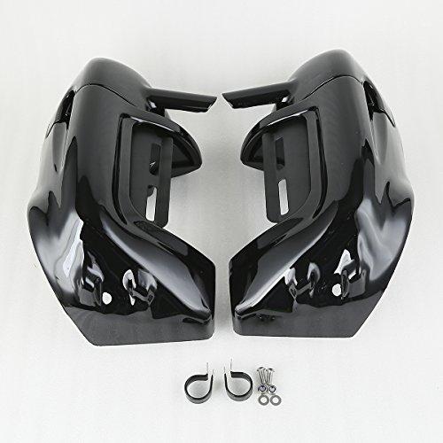 XMT-MOTO Black Lower Vented Leg Fairings Cap Glove Box For Harley-Davidson Touring Models 1983-2013 by XMT-MOTO (Image #2)