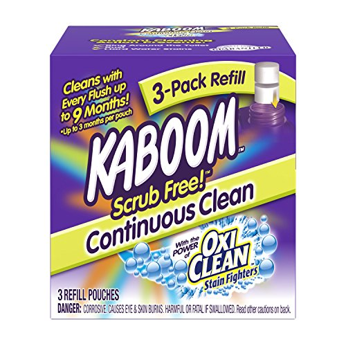 Kaboom Scrub Free! Continuous Clean with OxiClean 3-Pack Refill (Best Way To Store Fresh Mint Leaves)