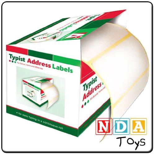 TYPIST ADDRESS LABELS 200 Per Roll Size: 80 X 35cm (3.54 ' X 1.38') NDA
