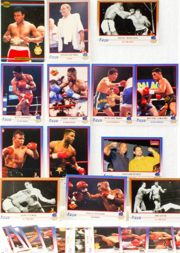 - 1991 - Kayo Cards Ltd & 1 Ringlords Muhammad Ali Card - 29 Kayo Boxing Trading Cards - Angelo Dundee / Rocky Marciano / Sugar Ray Leonard / Hector Camacho / Joe Louis + more - Out of Production - Rare - Collectible