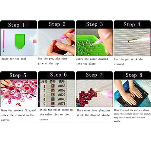 Weardear DIY 5D Full Drill Diamond Painting Kits, Diamond Cross Stitch Embroidery Pictures for DIY Home Art Craft Painting Wall Sticker Decoration by Weardear (Image #7)