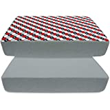 BlueSnail Plush Super Soft and Waterproof Crib and Toddler Mattress Cover for Baby 2-Pack (red Plane)