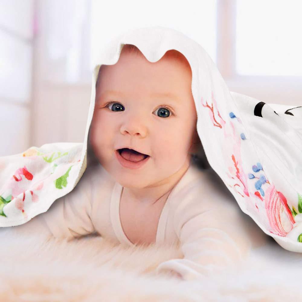 Baby Monthly Milestone Blanket, Premium Flannel Fleece, Includes Floral Wreath & Headband, Newborn Photography Prop, Baby Shower Gift