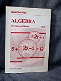 img - for Solution Key (Algebra Structure and Method Book 1) book / textbook / text book