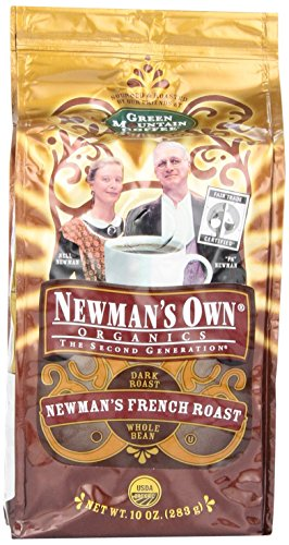 Newmans Coffee Whole French Roast, 10-Ounce