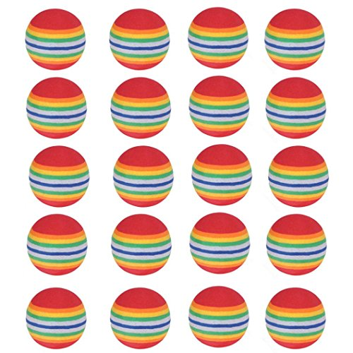 Coerni Golf Training Balls, 20 Pack Rainbow Golf Sponge Foam Ball Indoor Practice Traning Elastic