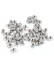 50Pcs T-Slot Nuts Hardware M4 M5 M6 M8, Zinc Plated Carbon Steel Fastener for Aluminum Profile (EU20-M4*10 * 6)