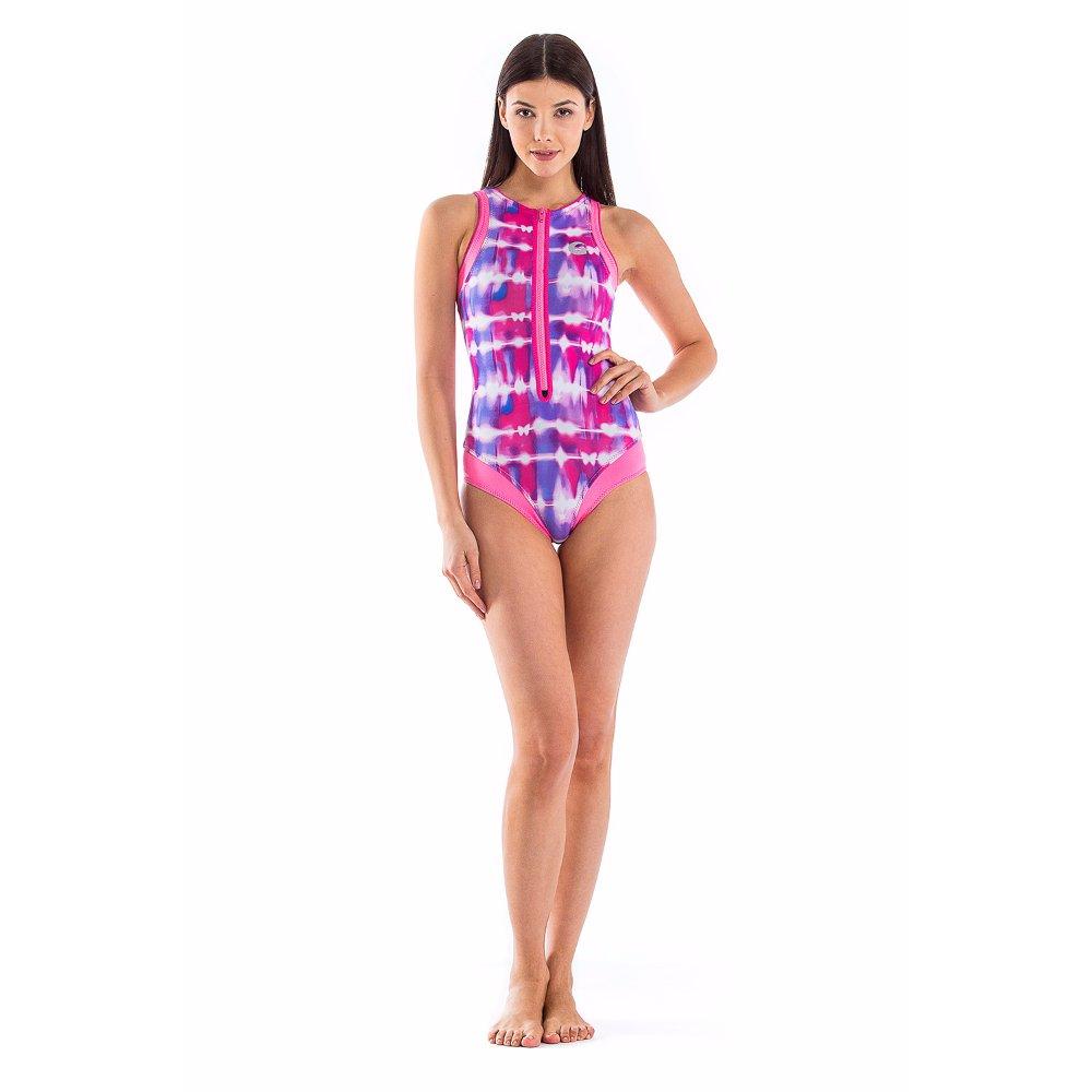 Glidesoul Damen Neopren mit Reissverschluss, Badeanzug