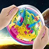 Intellect 3D UFO Maze Ball Labyrinth Globe Toys 100 Challenging Barriers Puzzle Toy Space Training Imagination Education Toy for Children 6-18 Years