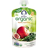 Gerber Purees Organic 3rd Foods Baby Food, Apples, Kale & Fig Pouch, 4.23 oz