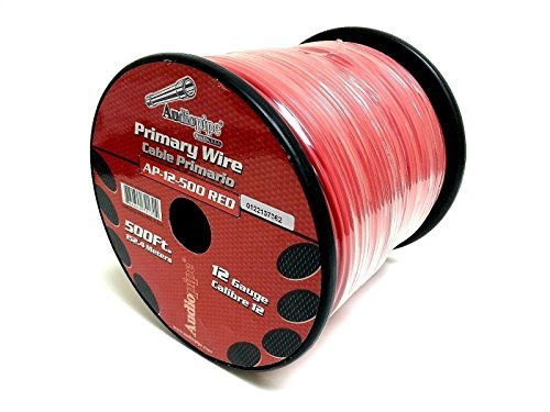 Audiopipe 500' Feet 12 Gauge AWG Red Primary Remote Wire Car Power Cable Home 500' Lead Wire