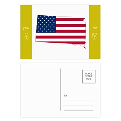 Amazon Com South Dakota Usa Map Stars Stripes Flag Shape Friend