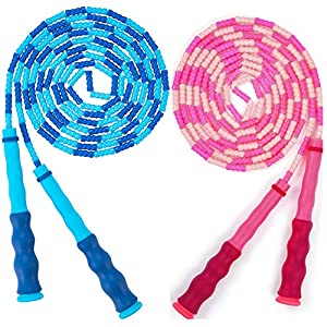 Well-Being-Matters 517WbqEjX8L._SS300_ Gogloo Adjustable Jump Rope | Soft Beaded Segment, Tangle Free Skipping Rope with Carrying Pouch