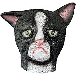 XIAO MO GU Grumpy Cat Mask Halloween Costume Party Latex Animal Head Mask