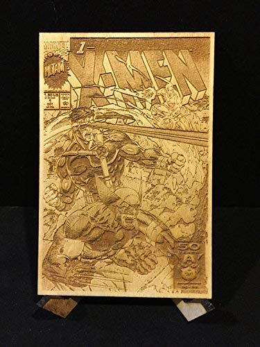 X-Men #1 All Four Jim Lee Covers Laser Etched Wood Covers on Baltic Birch by CCHobby (Image #5)
