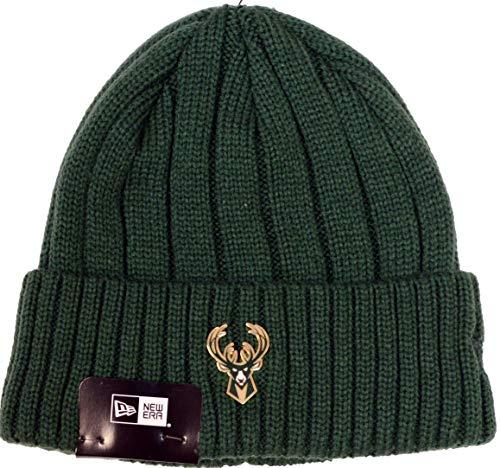 New Era Milwaukee Bucks Metal Cuffed Knit Hat]()