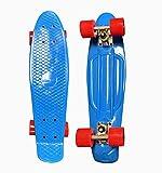 """AZM Blue Penny Board Skateboard w Free T Tool Combo 22"""" Cruiser Board"""