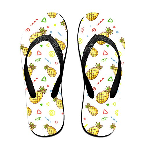 3c5452808316a Pineapple Background2 Funny Printed For Children And Adults Men And Women  Print Pattern Sandals Beach Sandals