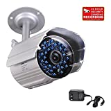 VideoSecu CCTV IR Infrared Bullet Security Camera Day Night Vision Home Outdoor Surveillance 520TVL IR-Cut Filter Switch with Power Supply and Bonus Security Warning Sticker AB1