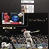 Autographed/Signed Matt Stairs Moon Shot Philadelphia Phillies 8x10 Baseball Photo JSA COA