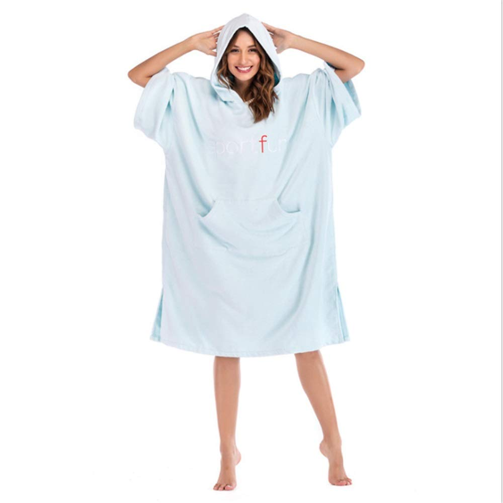 Light brown Oversized Surf Poncho Beach Hooded Towel Cover Up Bathrobes Microfiber Quick Drying Changable Clothes Wetsuit Changing Towel Swimming Bath Robe with Hood Pocket Sleeve SandProof for Surfing Swimming
