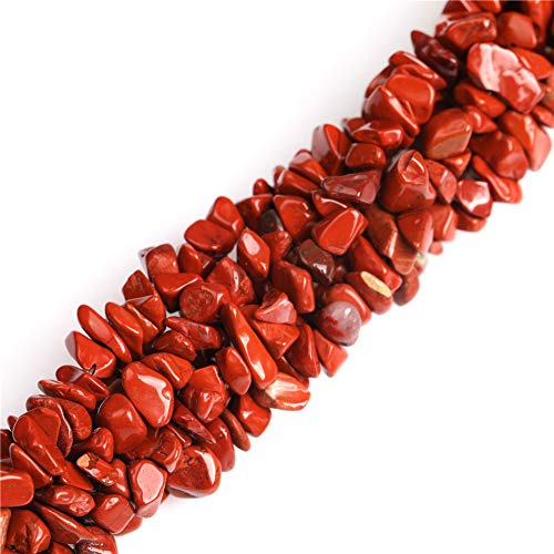 7-8mm Red Jasper Chips Beads for Jewelry Making Natural Gemstone Semi Precious 34