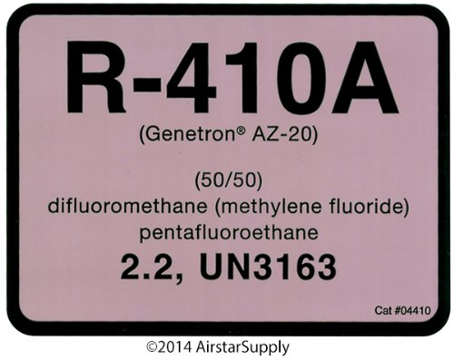 Diversitech R-410A Cylinder Tank Label (04410) for sale  Delivered anywhere in USA