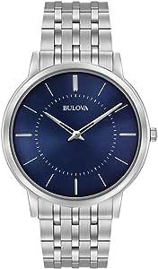 Bulova Men's Quartz Watch Metal Bracelet analog Display and Stainless Steel Strap, 96A188