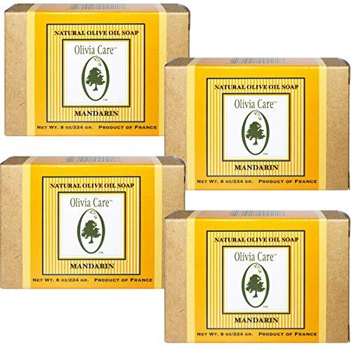 Olivia Care Premium Mandarin Bath & Body Bar Soap Organic, Vegan & Natural Olive Oil Repairs, Hydrates, Moisturizes…