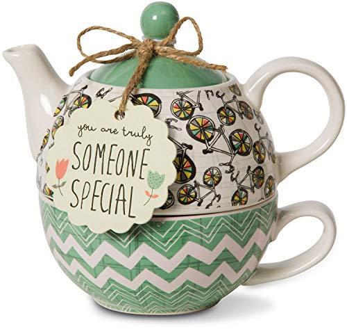 Pavilion- 15 oz. Teapot and 8 oz. Cup - Ceramic One