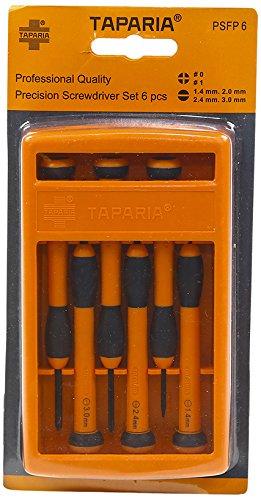 Taparia PSFP6 Steel Precision Screw Driver Set (Orange and Black, Pack of 6) Price & Reviews