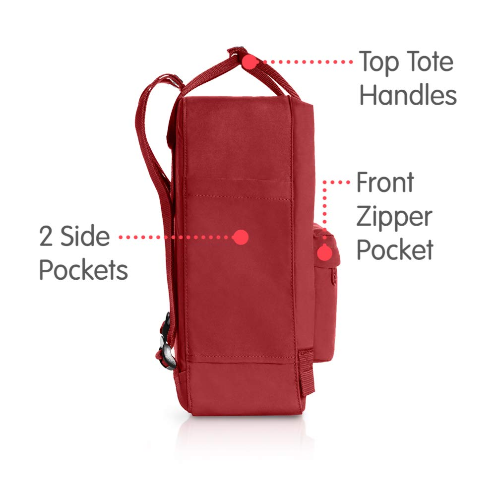 Fjallraven - Kanken Classic Backpack for Everyday, Deep Red by Fjallraven (Image #4)