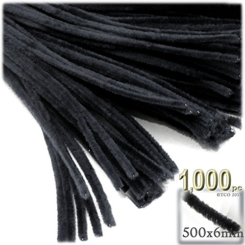 The Crafts Outlet Chenille Stems, Pipe Cleaner, 20-inch (50-cm), 1000-pc, Black by The Crafts Outlet (Image #5)